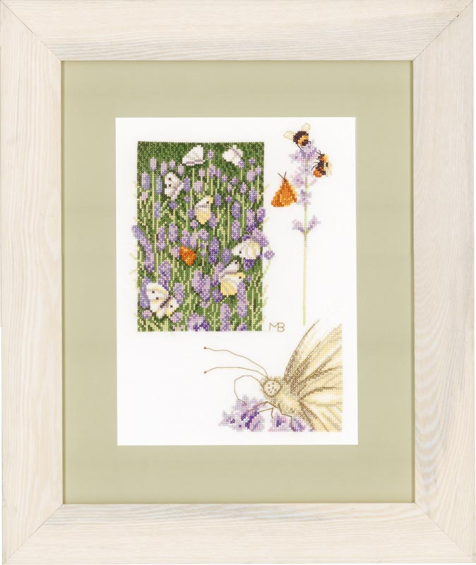 Lanarte Counted Cross Stitch Kit: Lavender Field (Evenweave)