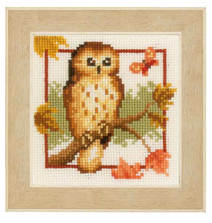 Counted Cross Stitch Kits: Autumn Owls
