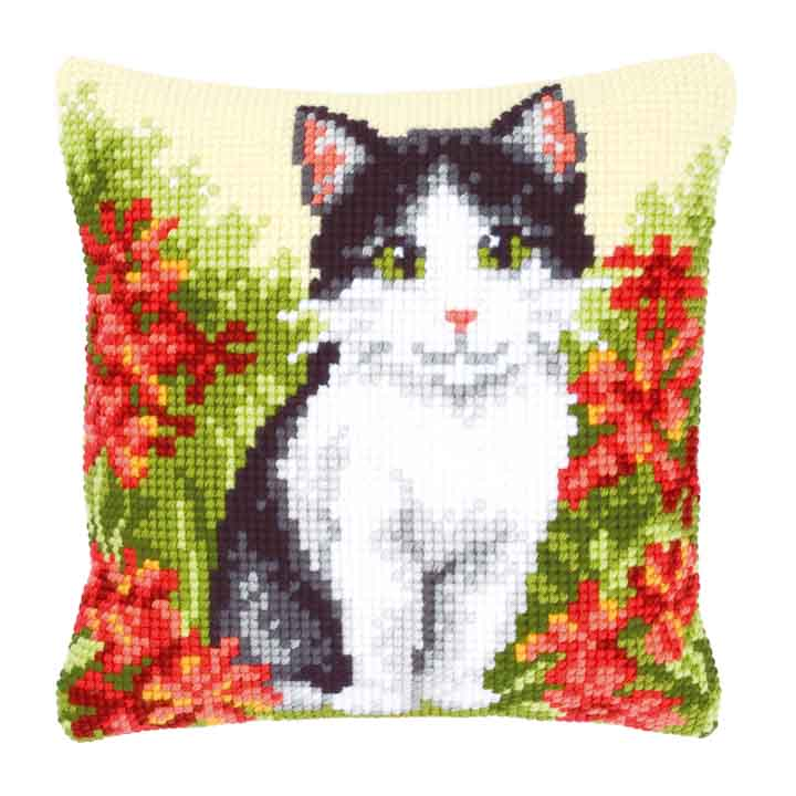 Vervaco Cross Stitch Cushion: Cat