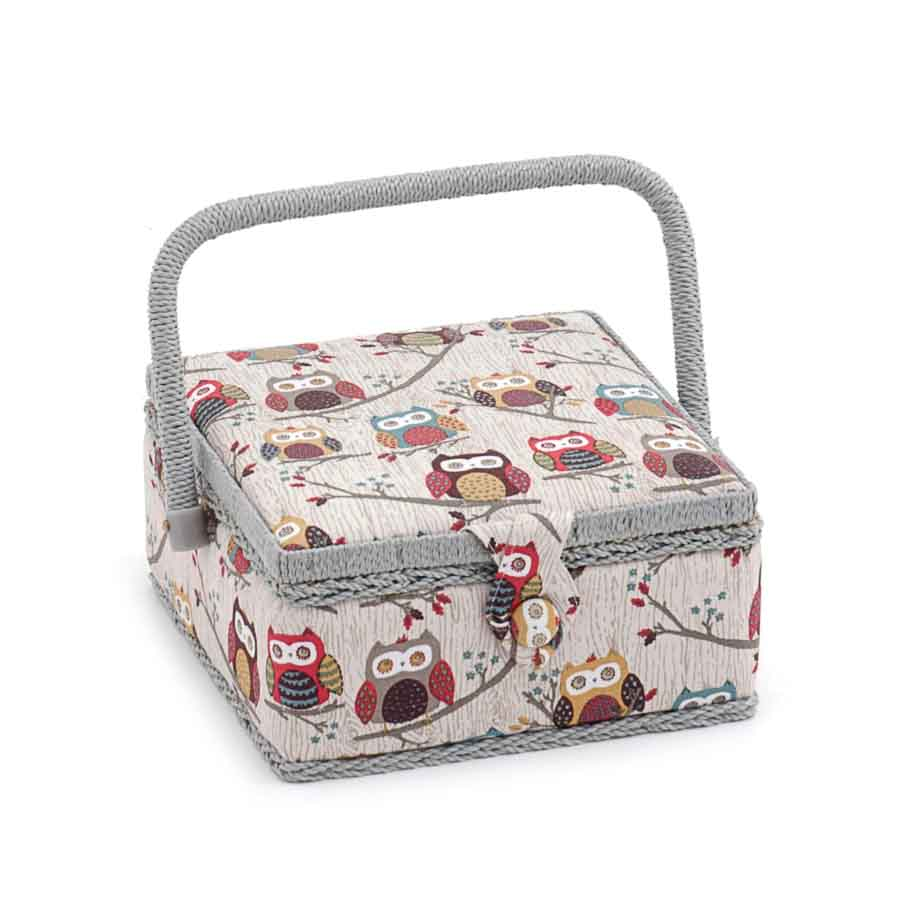 HobbyGift Sewing Box (S): Square: Hoot | MRS_195