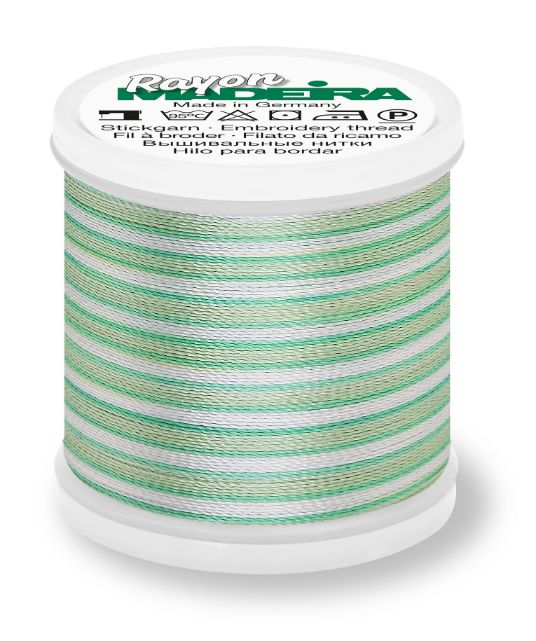 Madeira 9840_2020 | Rayon Multicolor Embroidery Thread 200m | Ombre/Blue/Green