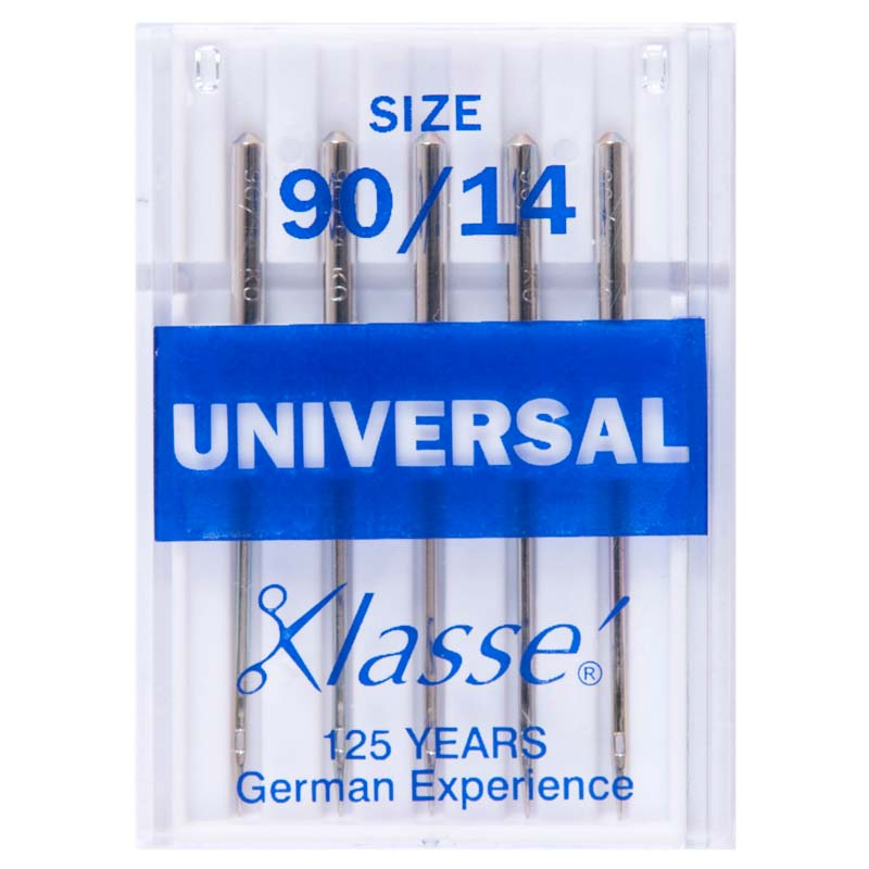 Klasse Sewing Machine Needles: Universal: 90/14: 5 Pieces