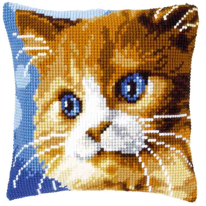 Vervaco Cross Stitch Cushion: Brown Cat