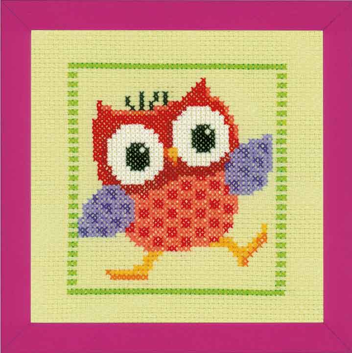 Counted Cross Stitch Kit: Red Owl