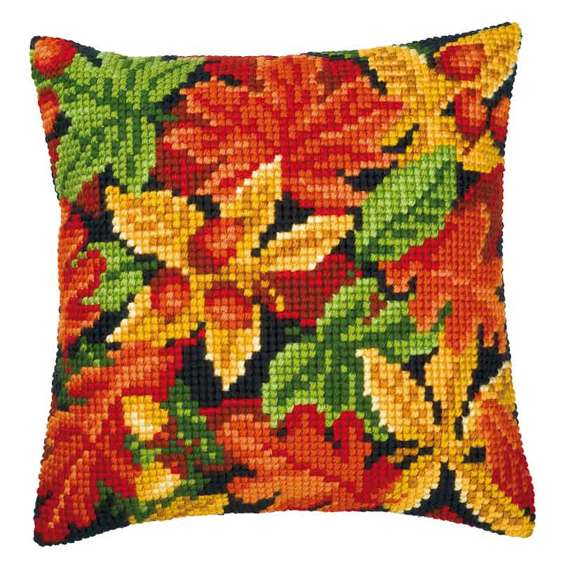 Vervaco Cross Stitch Cushion Kit: Autumn Leaves