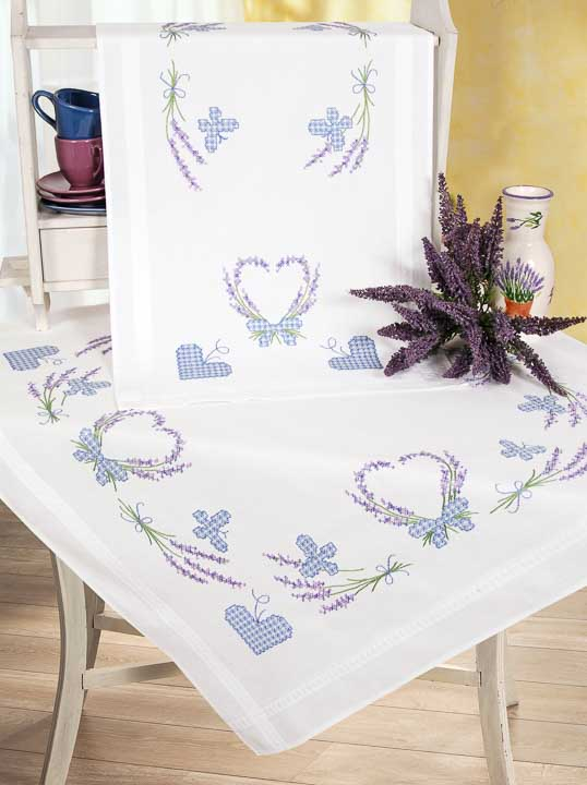 Vervaco Embroidery Kit: Runner: Lavender & Butterfly