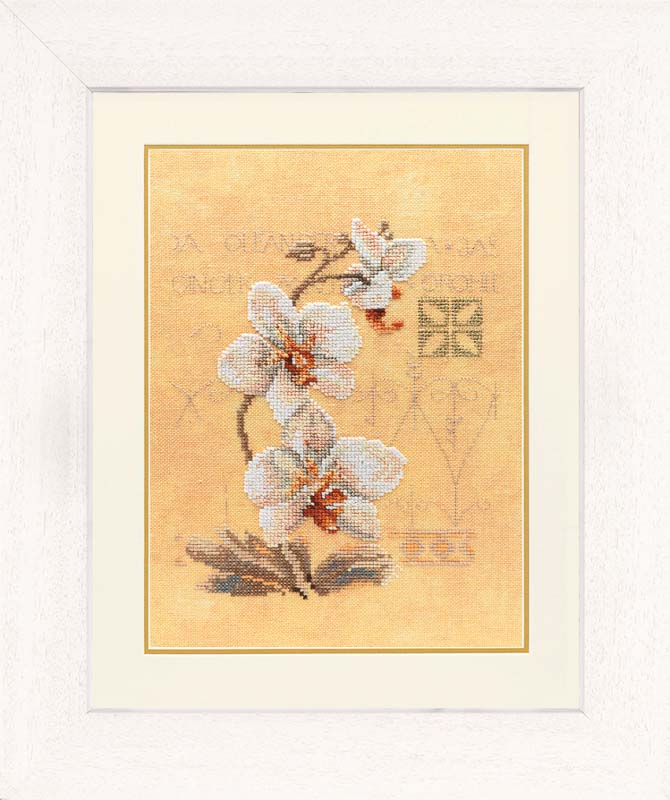 Lanarte Counted Cross Stitch Kit: Three Orchids