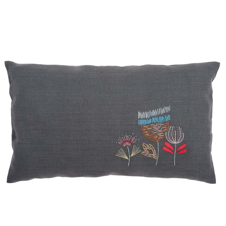 Vervaco Embroidery Kit: Cushion: Stylised Flowers Cushion