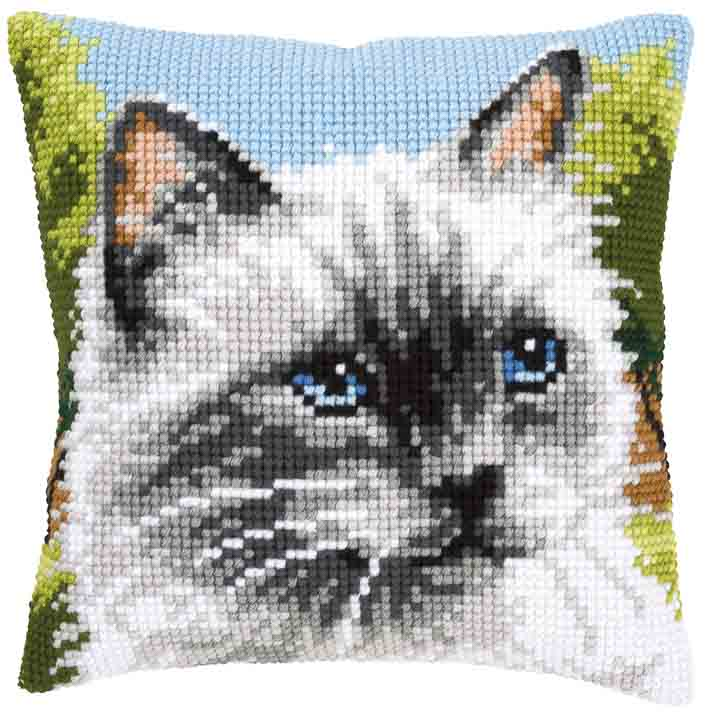 Vervaco Cross Stitch Cushion: Siamese Cat Cats & Dogs CSCK