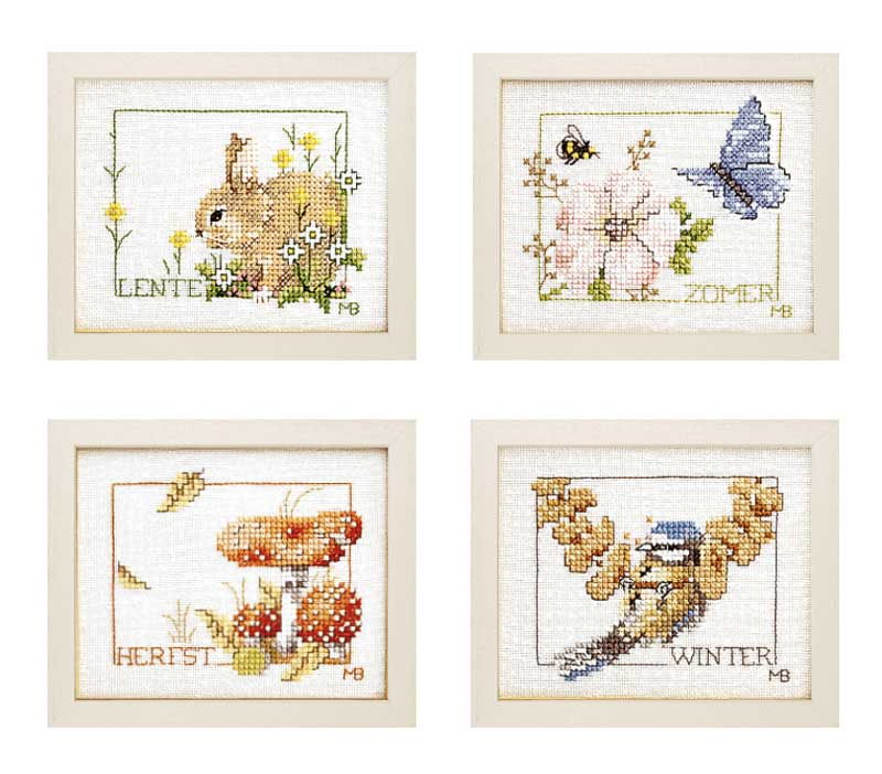 Lanarte Counted Cross Stitch Kit: Four Seasons