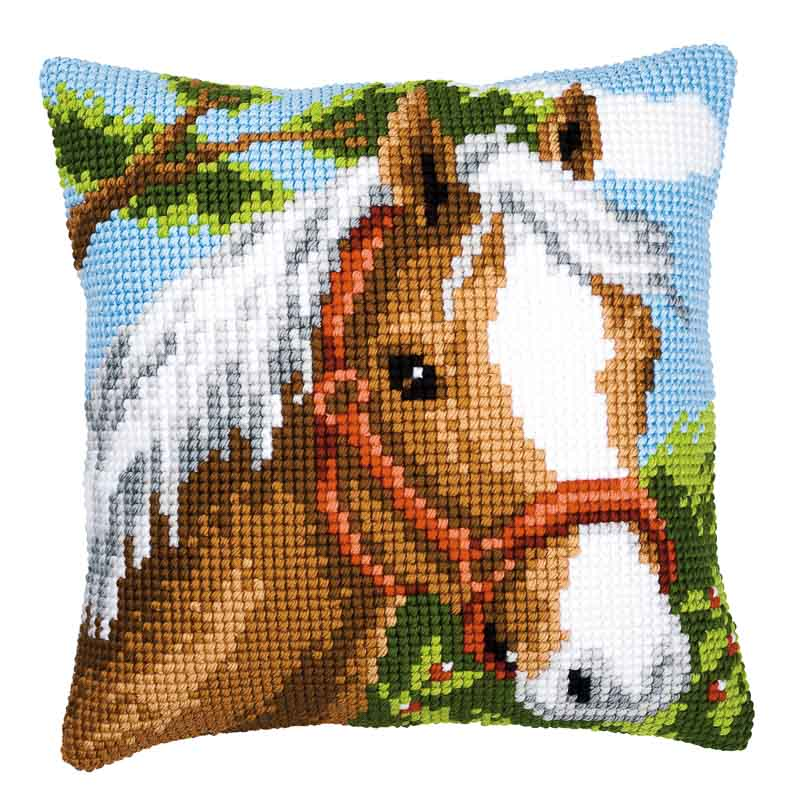 Vervaco Cross Stitch Cushion Kit: Pony Animals & Birds CSCK