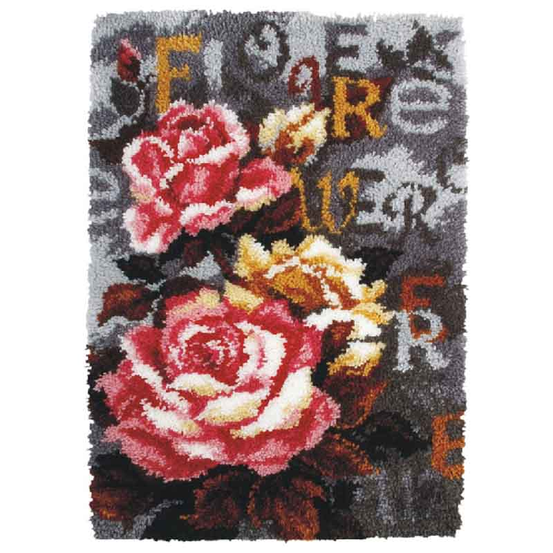 Orchidea Latch Hook Kit: Rug: Roses