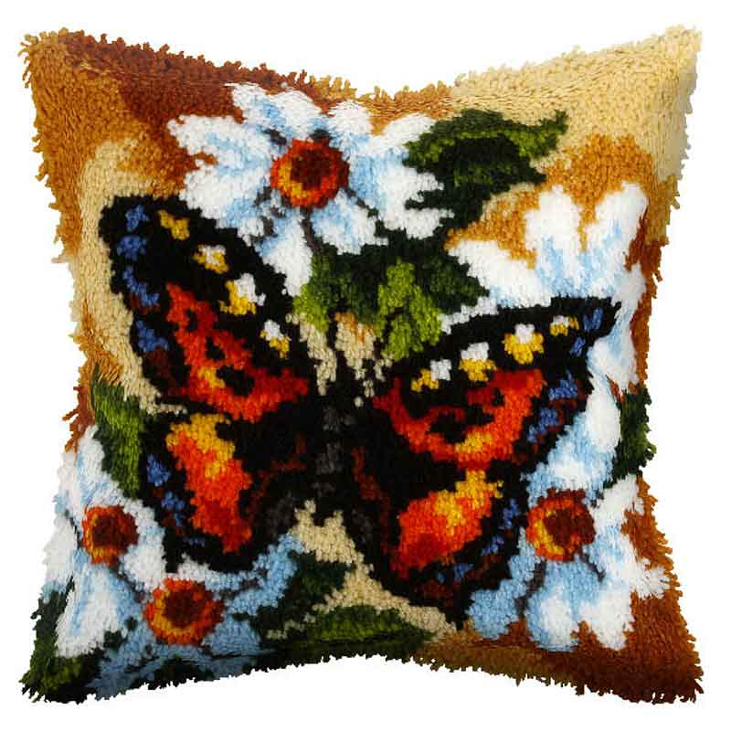 Orchidea Latch Hook Kit: Cushion: Large: Butterfly