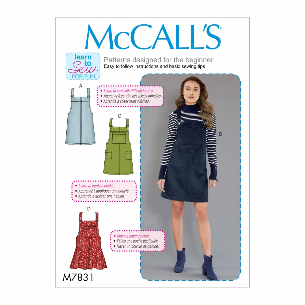 McCalls M7831/D5 | Misses Jumpers | Size (12-14-16-18-20) | Sewing Pattern
