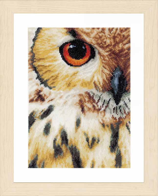 Lanarte Counted Cross Stitch Kit - Owl