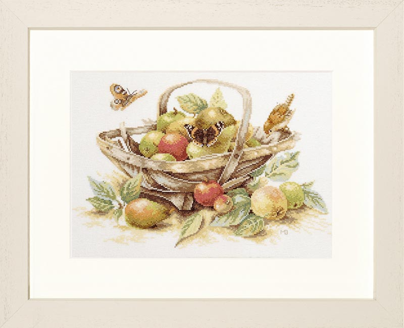 Lanarte Counted Cross Stitch Kit: Summer Fruit Flowers & Nature CSK