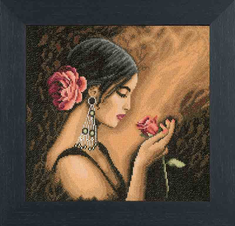 Lanarte Counted Cross Stitch Kit: Spanish Beauty (Aida,W)