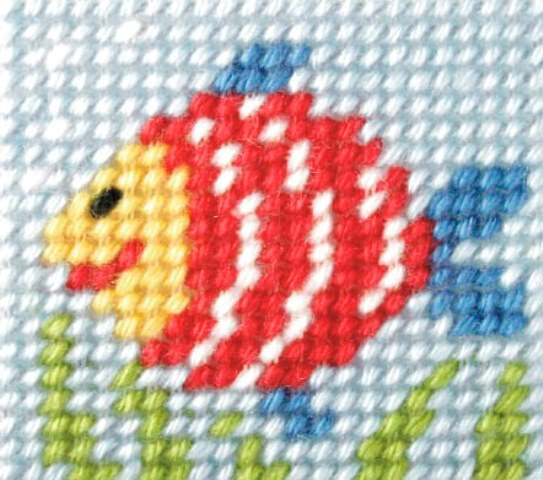 Orchidea Rainbow Fish Embroidery Kit - Clearance