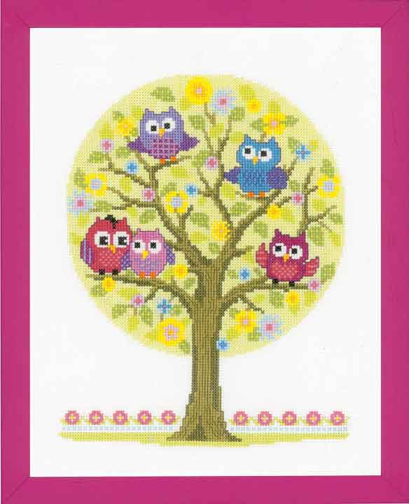 Counted Cross Stitch Kit: The Owls Have It Animals & Birds CSK