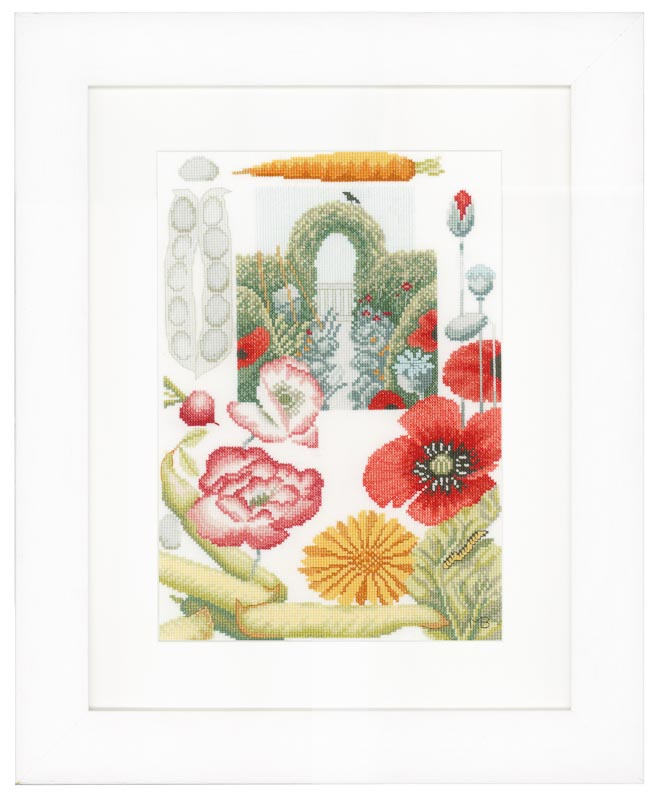 Lanarte Counted Cross Stitch Kit: Vegetable Garden (Evenweave)