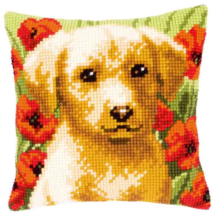 Vervaco Cross Stitch Cushion: Dog Cats & Dogs CSCK