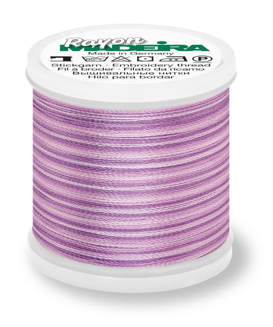 Madeira 9840_2014 | Rayon Multicolor Embroidery Thread 200m | Ombre/Orchids/Violet