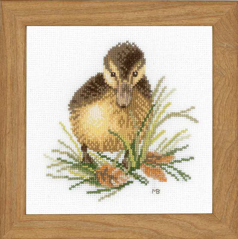 Lanarte Counted Cross Stitch Kit: Duckling One (Aida,W)