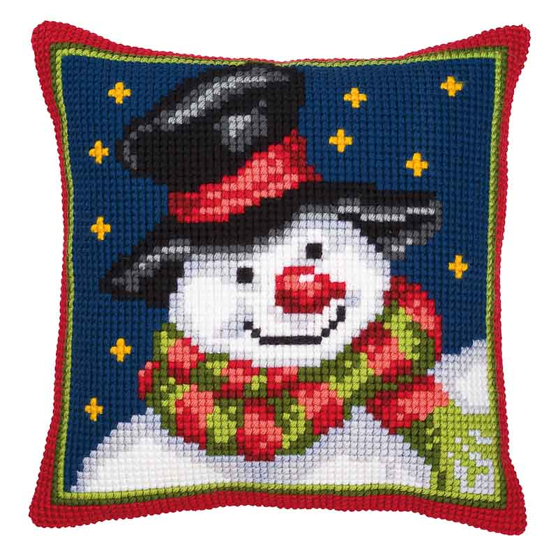 Vervaco Cross Stitch Cushion Kit: Snowman