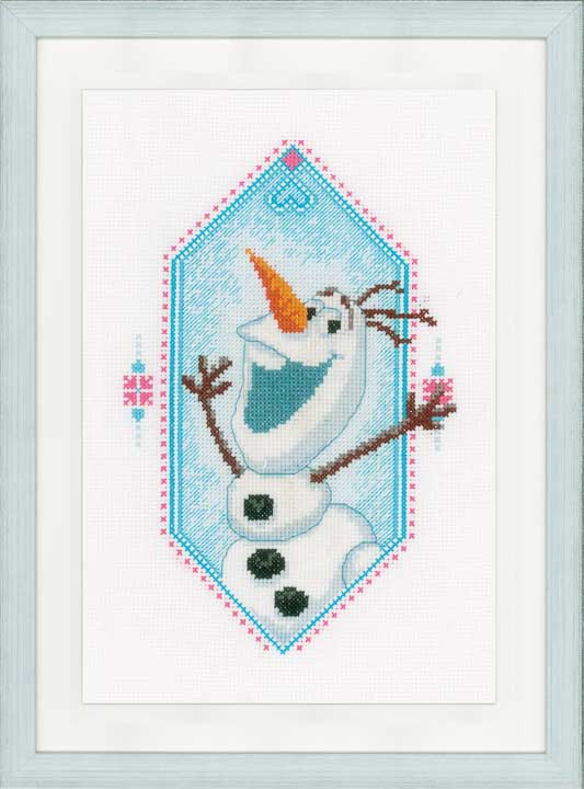 Vervaco Counted Cross Stitch Kit: Frozen - I'm Olaf Characters CSK