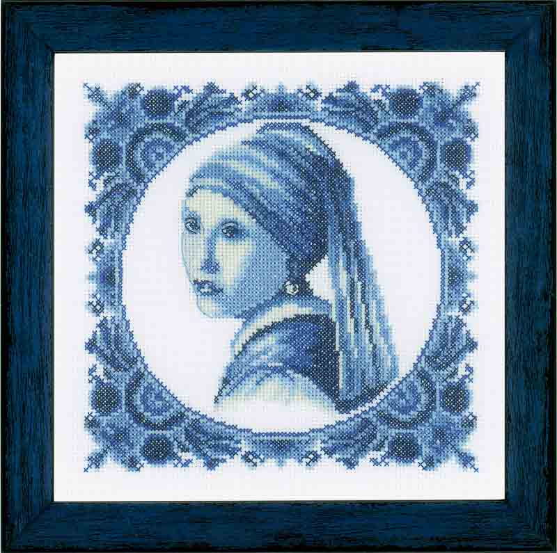 Lanarte Counted Cross Stitch Kit: Girl with a Pearl