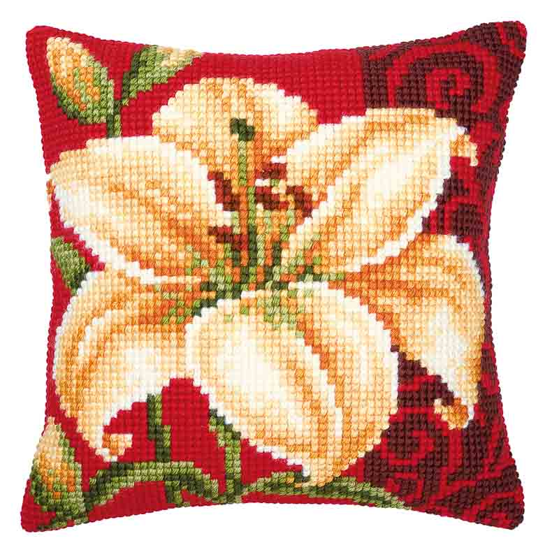 Vervaco Cross Stitch Cushion Kit: Tiger Lily