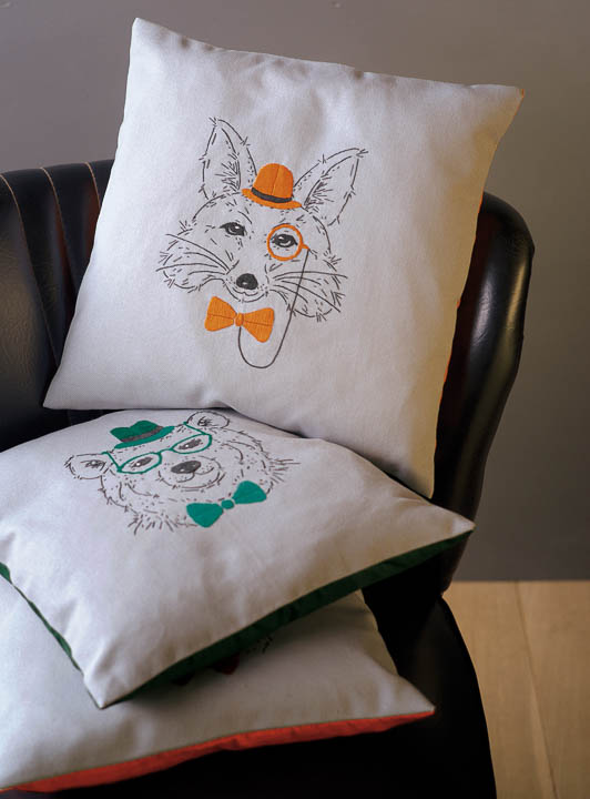 Vervaco Embroidery: Cushion: Fox with Orange Glasses