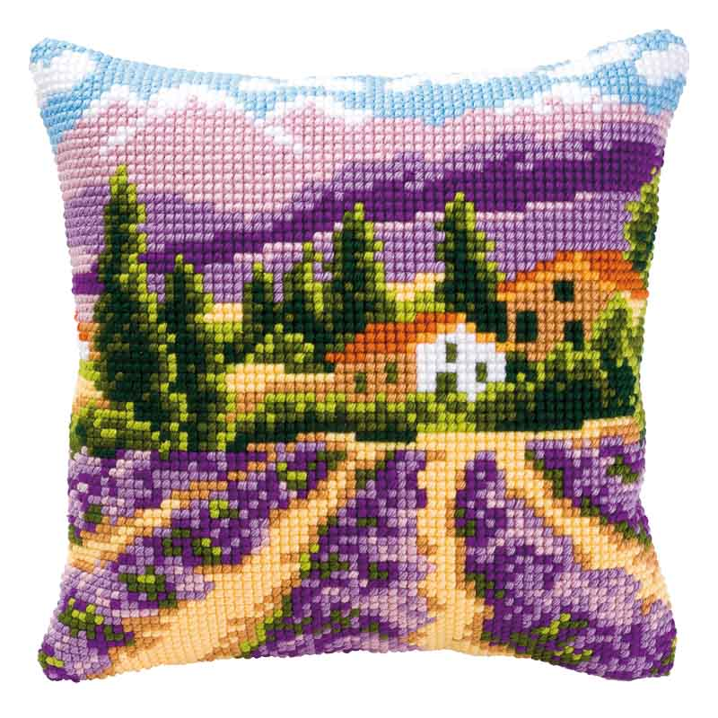 Vervaco Cross Stitch Cushion Kit: Lavender Fields