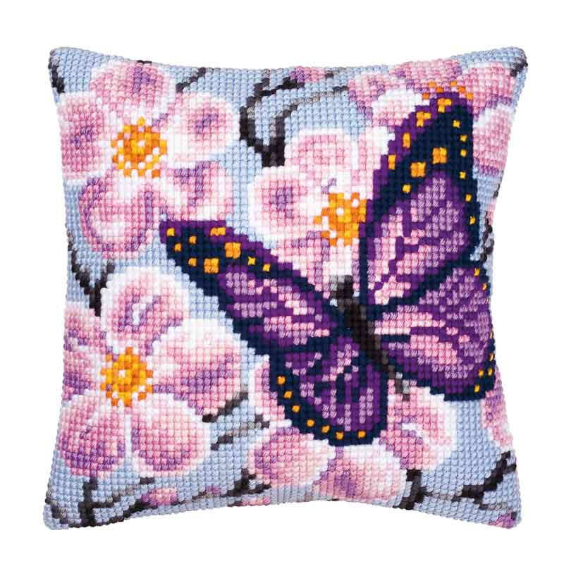 Cross Stitch Cushion Kit: Butterfly Bugs & Insects Cushion Kit