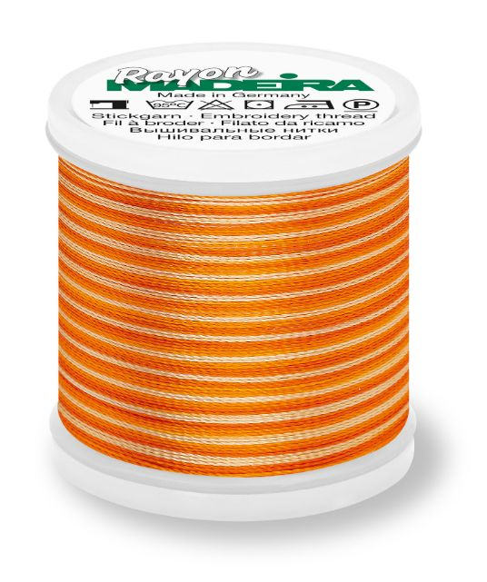 Madeira 9840_2053 | Rayon Multicolor Embroidery Thread 200m | Ombre Oranges