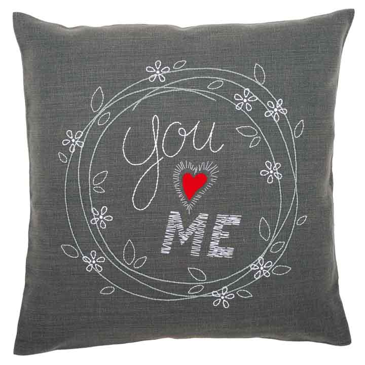 Vervaco Embroidery Kit: Cushion: You and Me Cushion