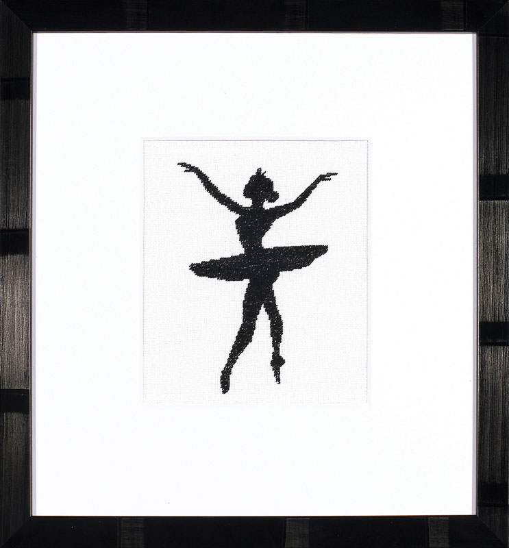 Lanarte Counted Cross Stitch Kit: Ballet Silhouette 3