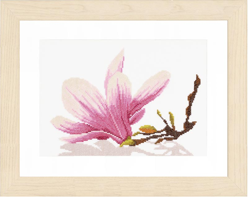 Lanarte Counted Cross Stitch Kit: Magnolia Twig (Evenweave)