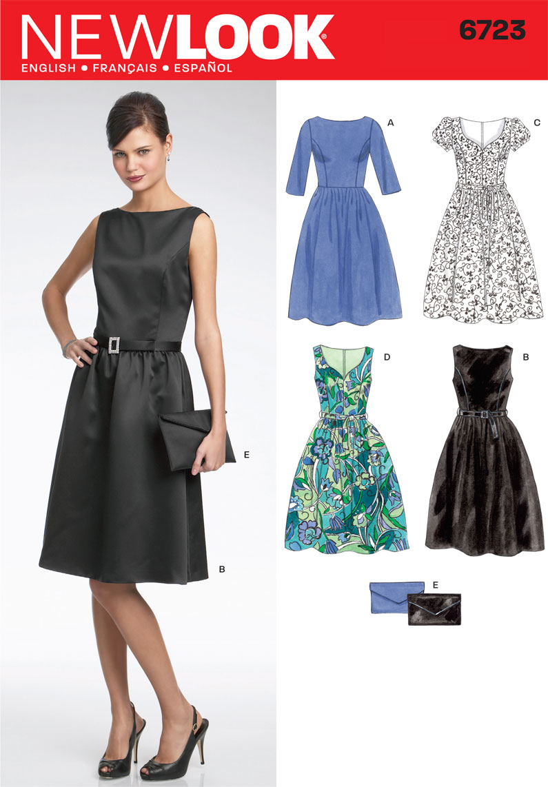 a3dbe6125a76 New Look U06723A | 6723 Misses Dresses | Size A (8 - 10 - 12 - 14 - 16 -  18) | Sewing Pattern - Haberdashery Online