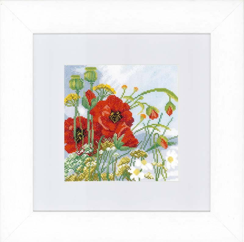 Lanarte Counted Cross Stitch Kit: Poppies (Evenweave)