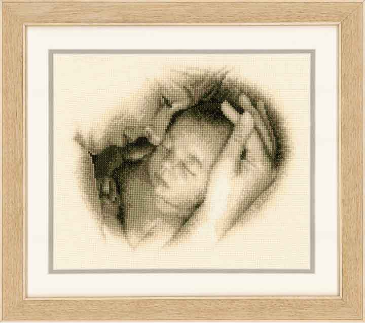 Counted Cross Stitch Kit: Sleeping Safely Birth & Babies CSK
