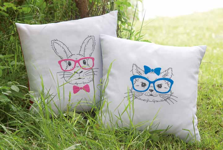 Vervaco Embroidery Kit: Cushion: Cat with Blue Glasses Cushion