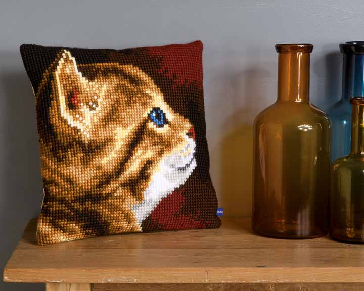 Vervaco Cross Stitch Cushion: Kitten Cats & Dogs CSCK