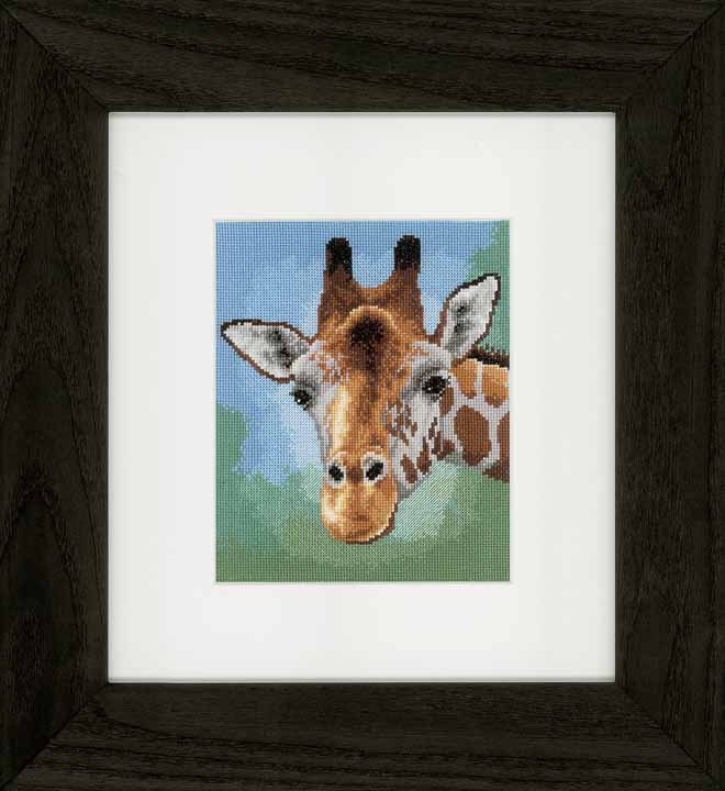 Counted Cross Stitch Kit: Giraffe Animals & Birds CSK