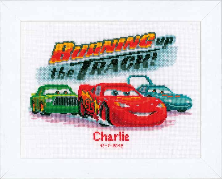 Vervaco Counted Cross Stitch Kit: Lightning McQueen Characters CSK