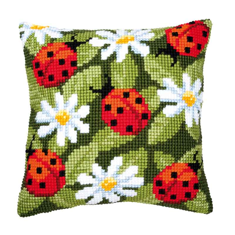 Vervaco Cross Stitch Cushion Kit: Ladybird