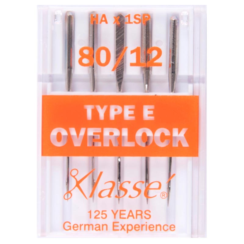 Klasse Overlocker Needles: Type E: 5 Pieces