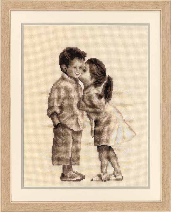 Counted Cross Stitch Kit: Kiss at the Beach