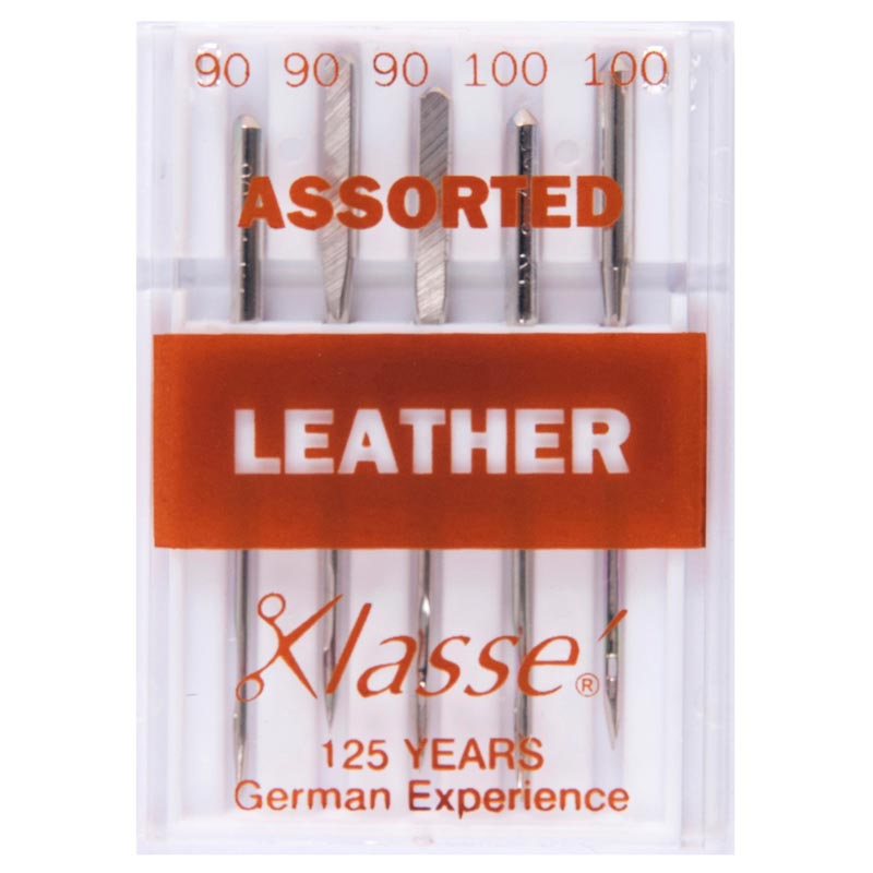 Klasse Sewing Machine Needles: Leather: Assorted: 5 Pieces