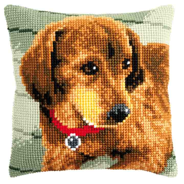 Vervaco Cross Stitch Cushion: Dachshund Cats & Dogs CSCK